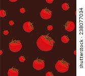 vector fresh red tomato...   Shutterstock .eps vector #238077034