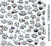 seamless cartoon pattern with... | Shutterstock .eps vector #238080064