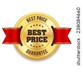 gold best price badge with red... | Shutterstock .eps vector #238084660