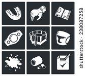 martial arts vector icons set | Shutterstock .eps vector #238087258