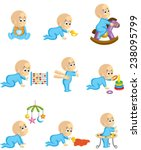 baby play | Shutterstock .eps vector #238095799
