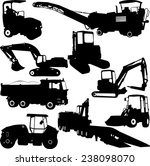 construction machines... | Shutterstock .eps vector #238098070