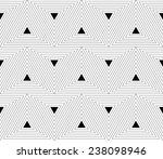 Triangular Pattern In Black An...