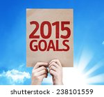 2015 goals card with beautiful... | Shutterstock . vector #238101559