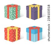 gifts boxes. | Shutterstock .eps vector #238103518