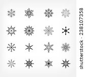 snowflake icons | Shutterstock .eps vector #238107358