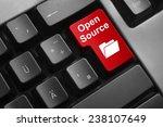 dark grey keyboard red button... | Shutterstock . vector #238107649