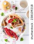 belgian waffles   Shutterstock . vector #238109218