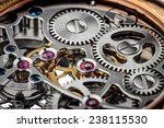 clock mechanism macro shot  | Shutterstock . vector #238115530