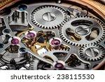 clock mechanism macro shot  | Shutterstock . vector #238115530