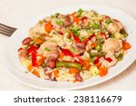 chicken with rice and vegetables | Shutterstock . vector #238116679