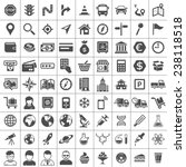universal icon set. 81 icons.... | Shutterstock .eps vector #238118518