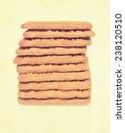 dutch speculoos cookies.... | Shutterstock . vector #238120510