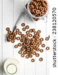 Chocolate Cereal Rings And Milk
