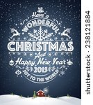 christmas and new year... | Shutterstock .eps vector #238121884