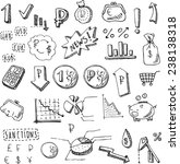 graphic drawn icons isolated... | Shutterstock .eps vector #238138318