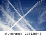 X Shape Created In The Sky By...