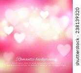 valentine's day romantic... | Shutterstock .eps vector #238139320