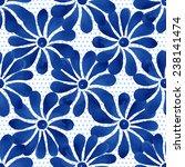 floral seamless pattern ... | Shutterstock .eps vector #238141474