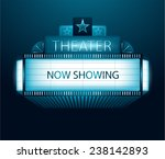vector now showing movie... | Shutterstock .eps vector #238142893