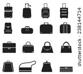 bags icons set | Shutterstock .eps vector #238144714
