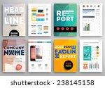set of flyer  brochure design... | Shutterstock .eps vector #238145158