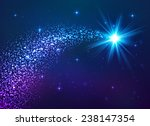 blue shining star with dust tail | Shutterstock . vector #238147354