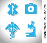 medical design over white... | Shutterstock .eps vector #238154098