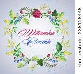watercolor floral elements set  ... | Shutterstock .eps vector #238158448