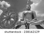 white background buddha statue... | Shutterstock . vector #238162129