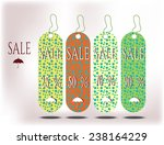four colorful cards with words...   Shutterstock .eps vector #238164229