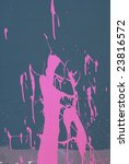 hot pink paint thrown against... | Shutterstock . vector #23816572