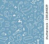 hand drawn plumbing seamless... | Shutterstock .eps vector #238184839