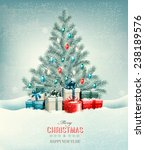 christmas tree with presents...   Shutterstock .eps vector #238189576