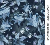 lilies seamless pattern | Shutterstock . vector #238206934