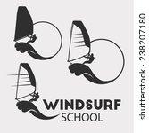 Windsurfing Vector Illustratio...