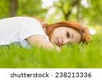 portrait of a pretty redhead... | Shutterstock . vector #238213336