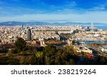 barcelona with port  from... | Shutterstock . vector #238219264