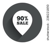 90  sale pointer tag sign icon. ...