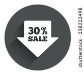 30  sale arrow tag sign icon....
