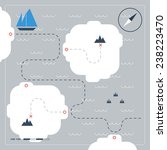 sailing map | Shutterstock .eps vector #238223470
