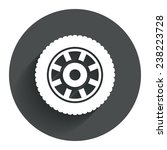 car wheel sign icon. circular...