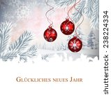 christmas greeting in german... | Shutterstock . vector #238224334