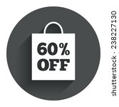 60  sale bag tag sign icon....