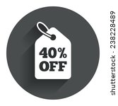 40  sale price tag sign icon....