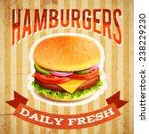 fast food restaurant poster... | Shutterstock .eps vector #238229230