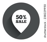 50  sale pointer tag sign icon. ...