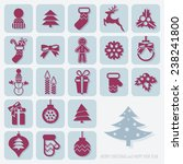 merry christmas and happy new... | Shutterstock .eps vector #238241800