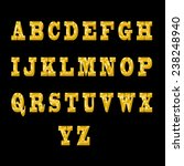 font set in golden style on... | Shutterstock . vector #238248940