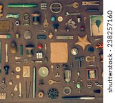 vintage set of old things and... | Shutterstock . vector #238257160